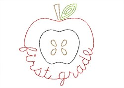 First Grade Apple - Quick Stitch