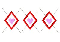 Argyle Heart Pattern