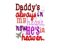 Daddy's Always in my heart, now he's in heaven.