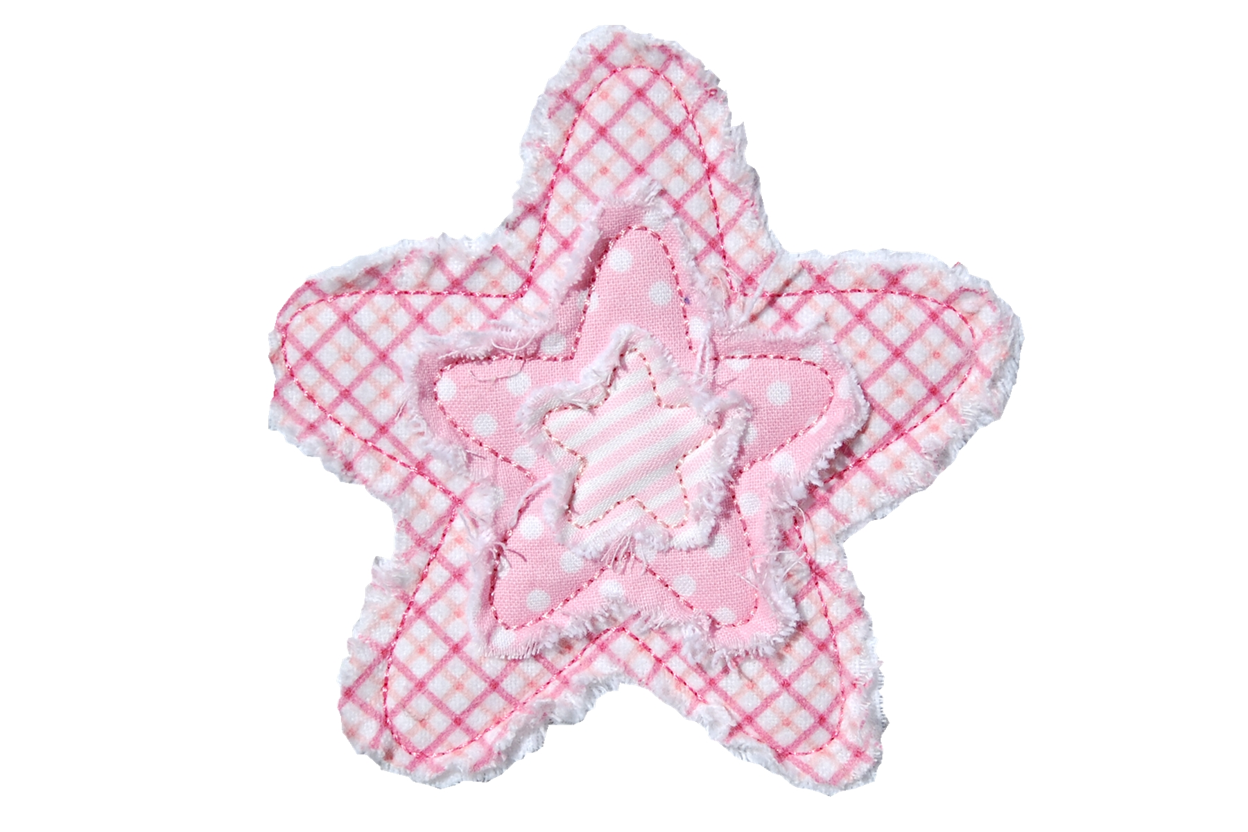 Frayed Layered Star 2
