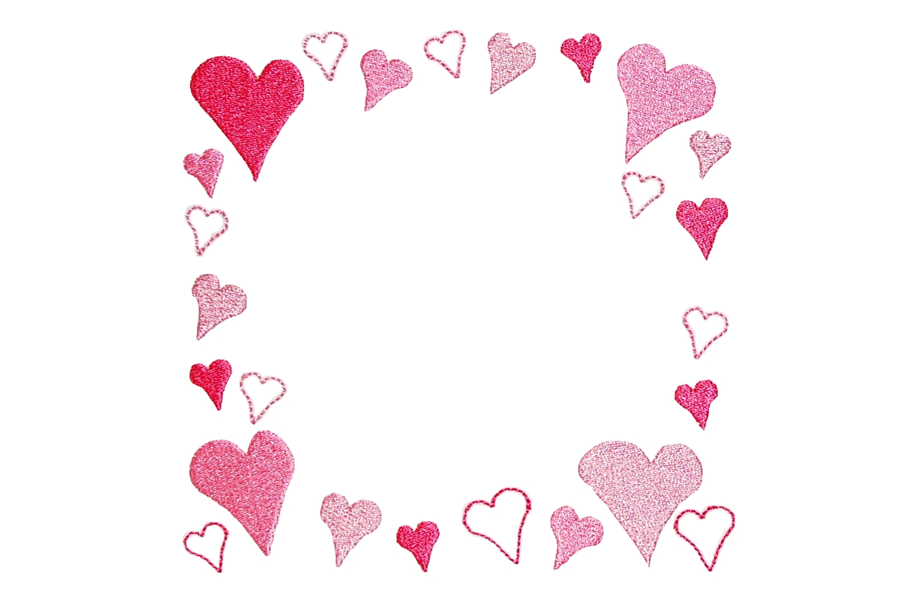Heart Frames For Pictures Frames, Machine Embroi...