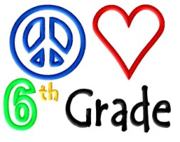 Peace Heart 6th Grade