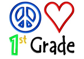 Peace Heart 1st Grade