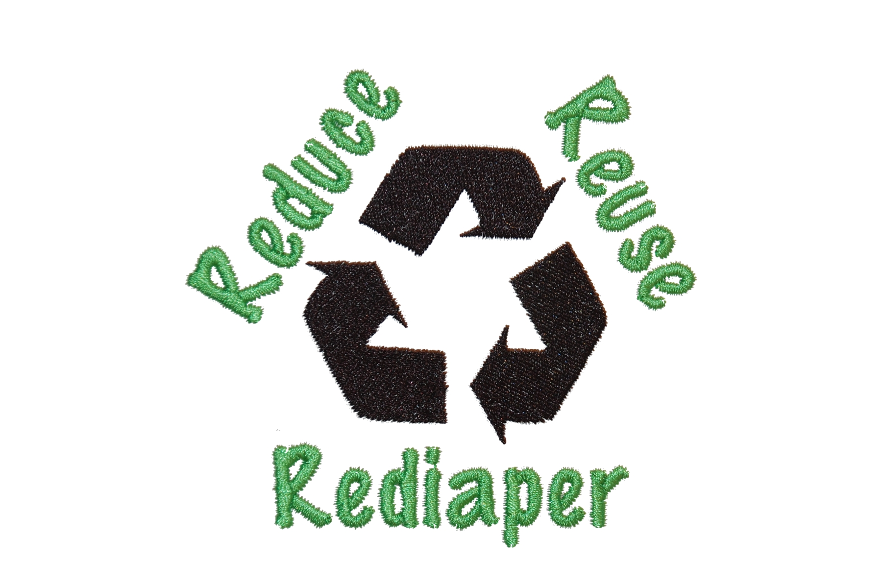Reduce Reuse Rediaper Embroidery