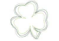 Reverse Shamrock (Reverse, Open, or Frayed)