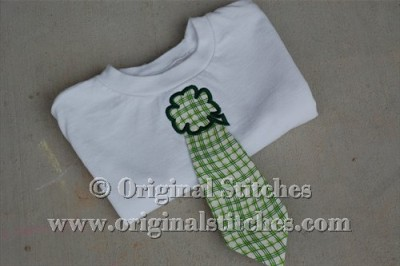 Lucky clover knot d tie machine embroidery and applique designs
