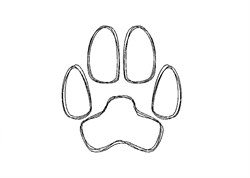 Paw Print - Quick Stitch