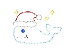 Christmas Whale - Quick Stitch