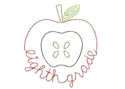 Eighth Grade Apple - Quick Stitch