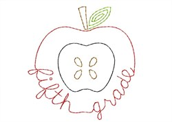 Fifth Grade Apple - Quick Stitch