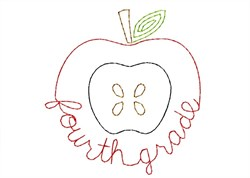 Fourth Grade Apple - Quick Stitch