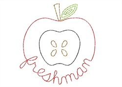 Freshman Apple - Quick Stitch