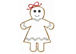 Gingerbread Girl - Quick Stitch