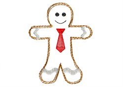 Gingerbread Man - Quick Stitch