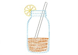 Lemonade Mason Jar - Quick Stitch