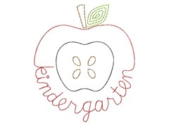 Kindergarten Apple - Quick Stitch