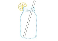 Lemon Mason Jar Drink - Quick Stitch