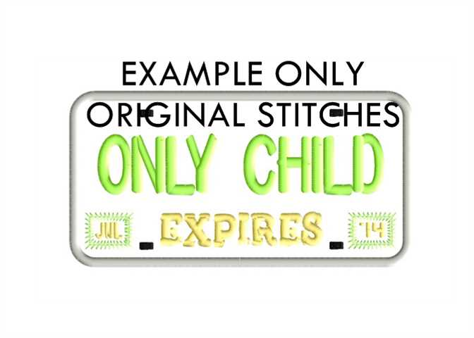 License Plate Frame Machine Embroidery And Applique Designs