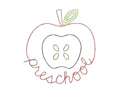 Preschool Apple - Quick Stitch