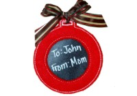 Reusable Ball Ornament Gift Tag