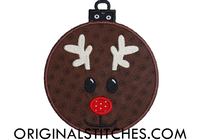 reindeer ornament applique machine embroidery and. Black Bedroom Furniture Sets. Home Design Ideas