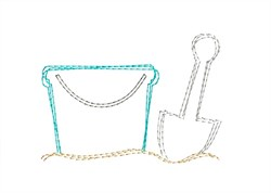 Sand Pail & Shovel - Quick Stitch