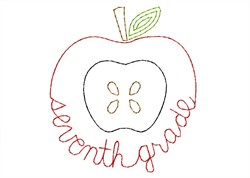 Seventh Grade Apple - Quick Stitch