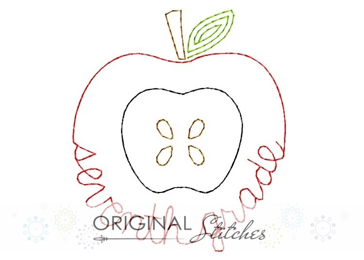 Seventh grade apple quick stitch machine embroidery and
