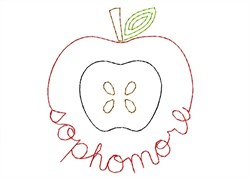Sophomore Apple - Quick Stitch