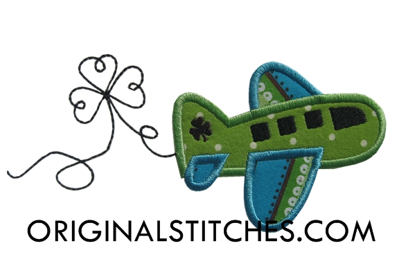 shamrock airplane machine embroidery and applique designs. Black Bedroom Furniture Sets. Home Design Ideas