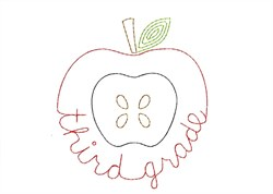Third Grade Apple - Quick Stitch