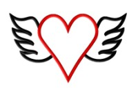 Winged Heart Applique